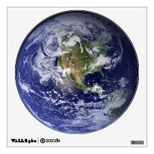 Planet Earth Wall Decal Zazzle Com