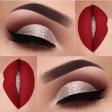 makeup ideas for a red and black dress