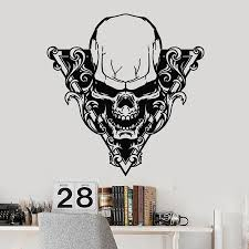 Skull Horror Wall Decal Gothic Style Scary Skeleton Door Window Vinyl Stickers Man Cave Bar Party Interior Decor Wallpaper E618 Wall Stickers Aliexpress