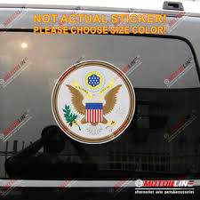 Great Seal Of United States American Usa Decal Sticker Car Vinyl Reflective Glossy Pick Size Car Stickers Aliexpress