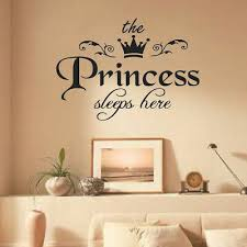 Removable Princess Sleeps Wall Stickers Art Pvc Decals Baby Girls Room Decorw Jx For Sale Online