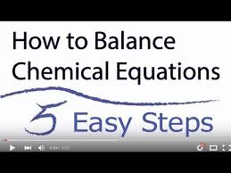 chemical equations in 5 easy steps