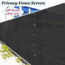 1 8 X 5m Black Fence Privacy Screen Windscreen Cover Netting Mesh Fabric Cloth Stop Neighbor Seeing Through Stop Dogs Barking Shade Sails Nets Aliexpress