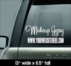 Makeup Gypsy Personalized Car Decal Car Decal Inspired By Etsy