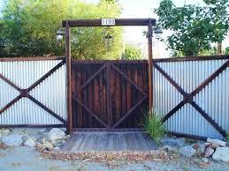 Metal Fencing Landscaping Network Corrugated Metal Fence Fence Design Backyard Fences