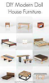 diy modern doll house furniture the