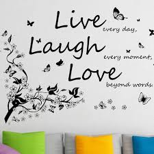 Ebern Designs Butterfly Vine And Live Laugh Love Wall Decal Reviews Wayfair
