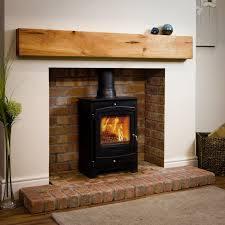 oak fireplace beam mantel shelves