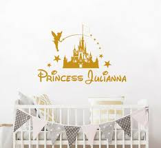 Wall Decal Disney Castle Personalized Princess Girl Name Vinyl Sticker Nv206 21 99 Picclick