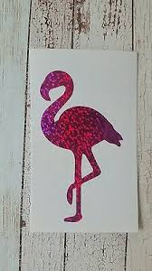 Flamingo Vinyl Car Decal Tumbler Mug Cup Decal 6 Hw Holographic Effect Left Ebay