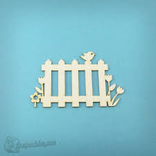 Chipboard Picket Fence With Flowers And Bird Blank For Decoupage Ukraine