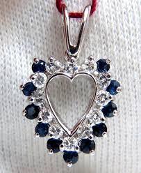 1 10ct natural sapphire diamonds heart
