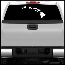 Amazon Com Sticker Connection Hawaiian Islands Window Sticker 9 X28 Large Vehicle Decal Automotive