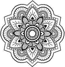 Cute Grayscale Henna Mandala Flower Icon 1 Vinyl Decal Sticker Shinobi Stickers