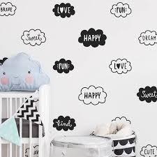Cute Cloud Wall Decals Nursery Art Decor Vinyl Words Wall Sticker For Kids Room Decoration Words Wall Stickers Sticker For Kids Roomwall Stickers For Kids Aliexpress