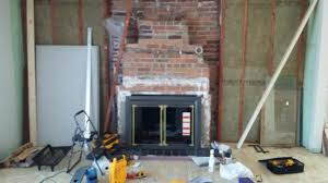 masonry fireplace for stone veneer