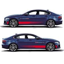 World Datong Sport Stripes Car Stickers For Jaguar Xe Sv R Sport Exterior Side Door Decal Car Auto Sticker Car Stickers Aliexpress
