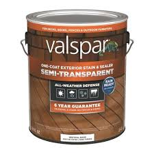 Valspar Tintable Neutral Base Semi Transparent Exterior Stain And Sealer Gallon In The Exterior Stains Department At Lowes Com