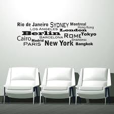 Shop World Cities Iii Vinyl Mural Wall Decal Overstock 11643790