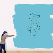 Angry Seahorse Decal