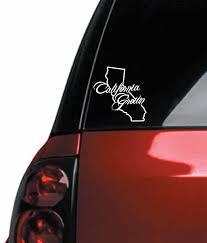 Amazon Com California State Cali Grown Outline Vinyl Car Decal 8 5 Vivid Gloss White Automotive