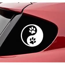 Amazon Com Slap Art Yin Yang Paw Prints Dog Paw Vinyl Decal Sticker Automotive