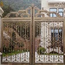 Metal Sliding Garden Fence Gate Iron Pipe Gate Grill Designs Main Gate Design Steel Fence