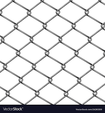 Chain Link Fence Pattern 3d Realistic Royalty Free Vector