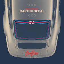 Martini Rear Window Decal For Porsche 911 Car Bone Pl