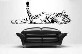Giant Tiger Wall Sticker Big Cat Art Large Decal Ca27 Big Cats Art Large Decal Wall Sticker