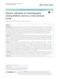 lifetime utilization of mammography