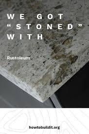 we got stoned with rustoleum stone