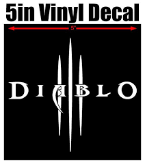 Diablo Iii Vinyl Window Decal 5 Quot White Black Red Silver Alien Green Free Shipping Vinyl Window Decals Vinyl Window Decals