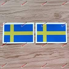Amazon Com 2x Reflective 4 Flag Of Sweden Swedish Flag Decal Sticker Car Vinyl Kitchen Dining