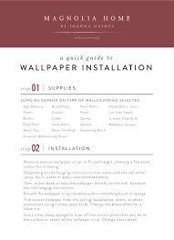 wallpaper installation guide magnolia