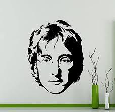 Amazon Com John Lennon Wall Decal The Beatles Music Vinyl Sticker Home Nursery Kids Boy Girl Room Interior Art Decoration Any Room Mural Waterproof Vinyl Sticker 281su Arts Crafts Sewing