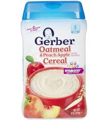 Bột ăn dặm Gerber vị yến mạch,đào, táo - 227g ( trên 6 tháng)