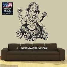 Amazon Com Wall Decal Vinyl Sticker Decals Art Decor Design Elephant Ganesh Indian Buddha Lotos Om God Tribal Pattern Yoga Bedroom Dorm R669 Home Kitchen