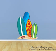 Surfboard Wall Decal Beach Surfboards Fabric Wall Decal Etsy