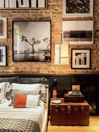 brick wallpaper bedroom ideas on