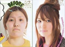 asian s before and after the makeup