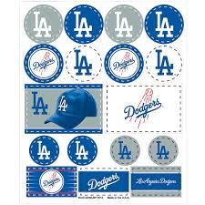 Los Angeles Dodgers Stickers 1 Sheet Party City
