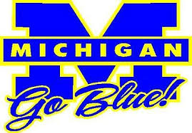 University Of Michigan Go Blue Vinyl Window Decal Sticker Ebay