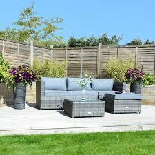 l shaped garden sofa set