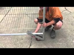 Temporary Fencing Video Sliding Gate Wheel Assembly Youtube