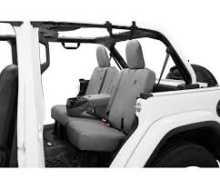 charcoal gray rear seat cover bestop