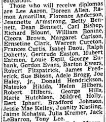 Helen Hilbers graduates from Glendale Union High School, Glendale, AZ - May  29, 1941 - Newspapers.com