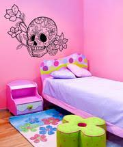 Day Of The Dead Sugar Skull With Flower Wall Decal 1179 Stickerbrand
