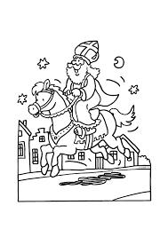 Sinterklaas Op Zijn Prachtige Paard Sinterklaas Kleurplaten