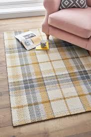 next dalton check rug yellow rugs